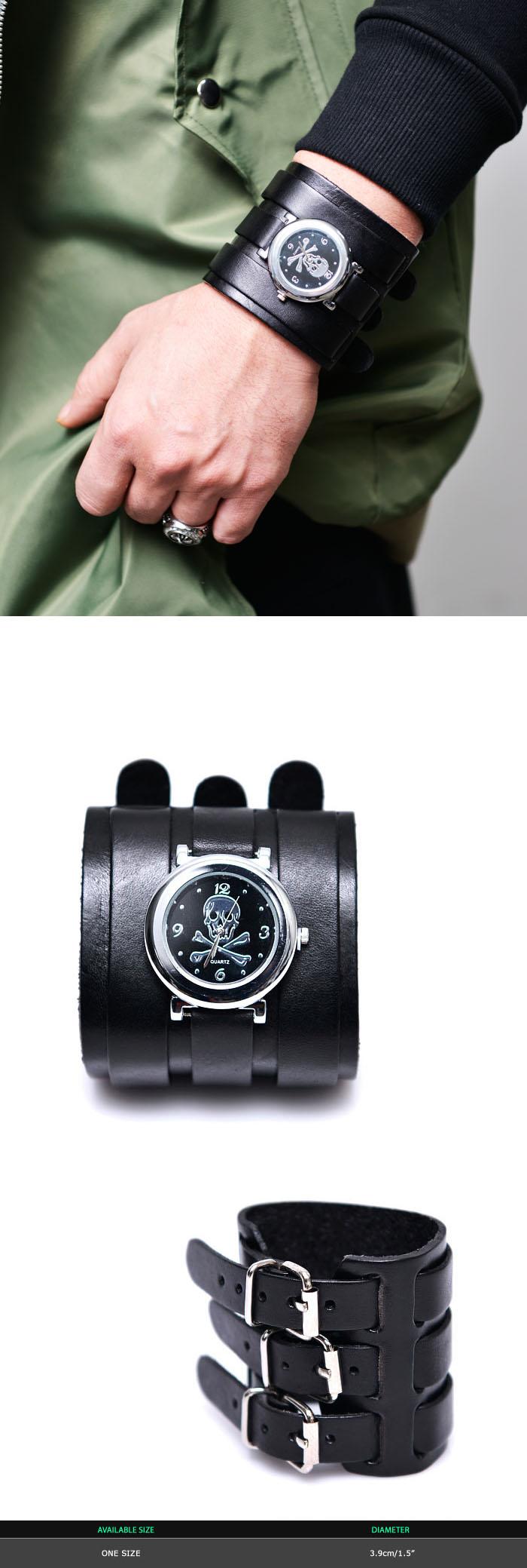 Accessories Bracelets Triple Strap Skull Watch