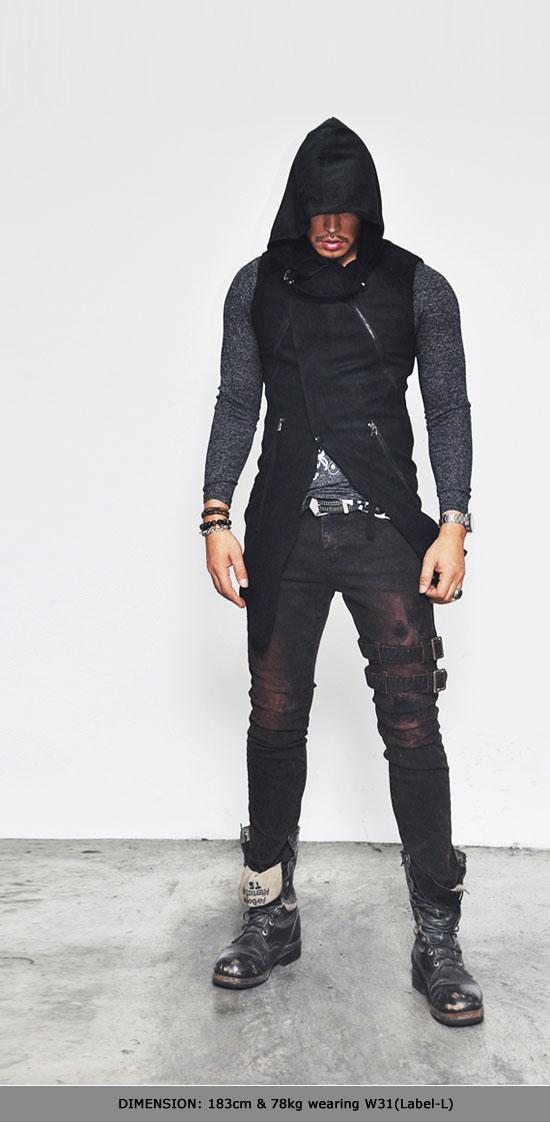Mens Belted Rebel Grunge Red Slim Biker-Jeans 152 | Fast ...