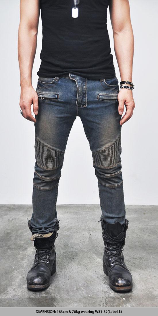 Bottoms Jeans Vintage Blue Designer Skinny Biker