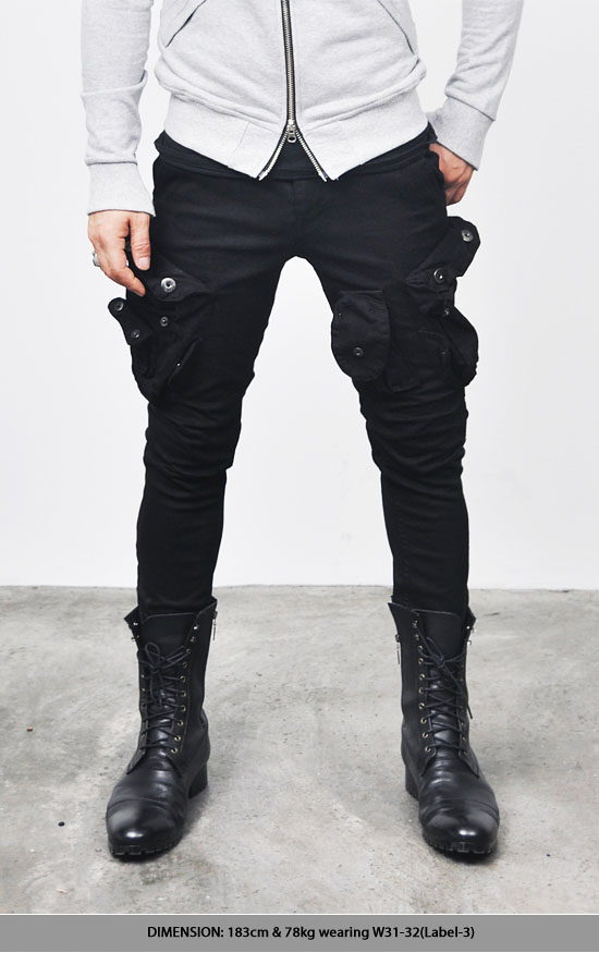 Bottoms :: Jeans :: Wax Coated Oil Cargo Skinny Jeans-Jeans 92 ...
