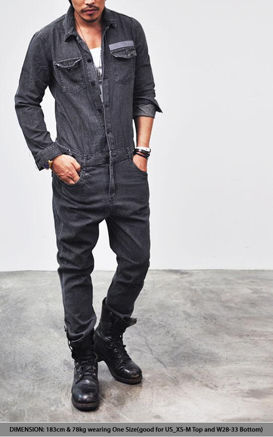 8babf3d8090b Bottoms Jeans Workwear Vintage Denim Jumpsuit-Jeans 97 - GUYLOOK  Menu0026 39 s