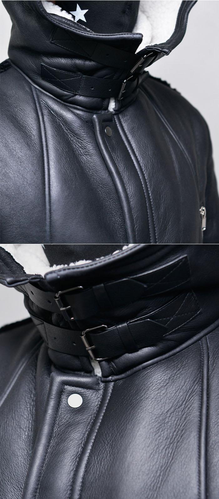 Outerwear Leather Jackets Shearling Lambskin Hooded