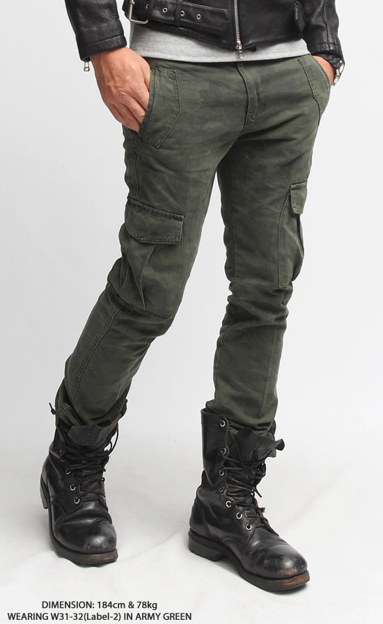 Military Camouflage Slim Cargo Pants-Pants 09 | Fast Fashion Mens ...
