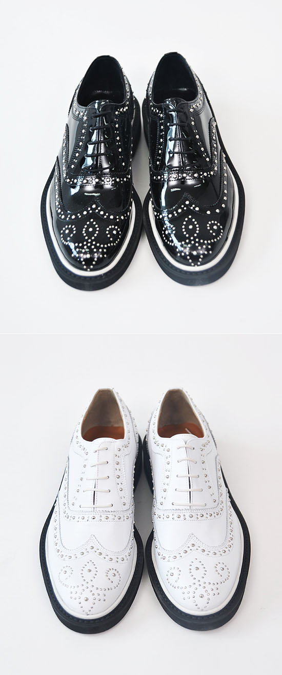 Designer Lux Metal Stud Wingtip-Shoes 122