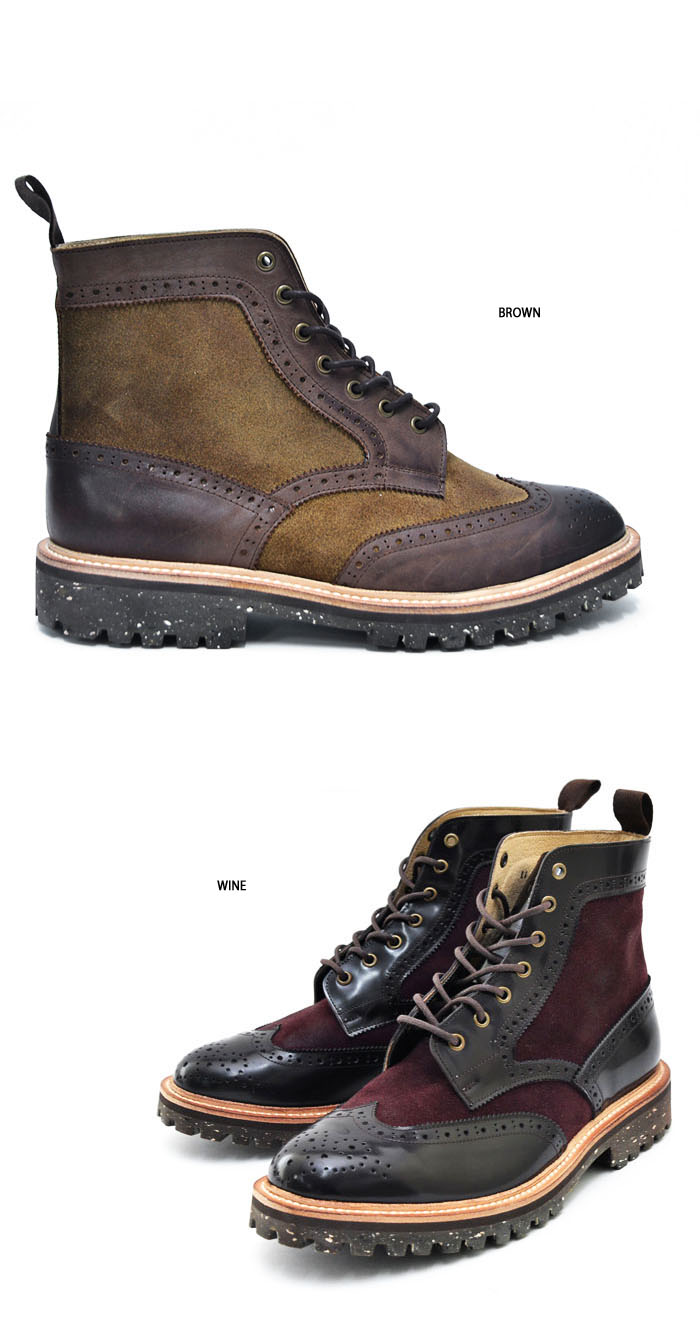 shoes two tone suede mix wingtip boots shoes 351